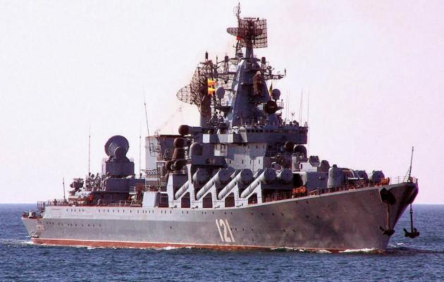 Το καταδρομικό «Μόσχα» παρακολουθείται από τουρκικά υποβρύχια