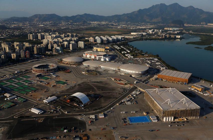 An aerial view of the 2016 Rio Olympics Park in Rio de Janeiro, Brazil, April 25, 2016.  REUTERS/Ricardo Moraes