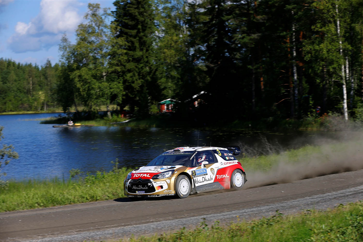 WRC - FINLAND RALLY 2014  - PHOTO : CITROEN RACING/AUSTRAL 03 Citroen Total Abu Dhabi WRT (FRA), MEEKE Kris NAGLE Paul, (GBR GBR), Citroen DS3 in action