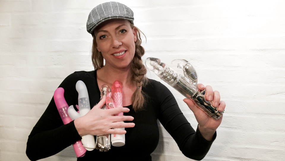 "Pic shows: Joan B, 41 yo mother and dildo tester. This is the surprising story of a mother of three who has made a career out of blogging about sex toys for the last 16 years. Joan B. from Denmark says there are still a lot of taboos about dildos, even though they should be seen as a way to boost oneâs sex life rather than as a crutch. Called the ""Dildo Queen"" by a menâs magazine editor back in 2000, the 41-year-old started being a dildo tester and sexblogger on joanb.dk. She had always been interested in sex toys, recalling how many years ago she first found comfort in her electric toothbrush. She said: ""I have never been frightened of dildos. In fact I was very young when I first had an orgasm in my own company. I still remember vividly one afternoon being at home alone. I was about to brush my teeth with my electric toothbrush. And for unknown reasons I put the end of the vibrating toothbrush between my legs."" From that moment on, she was hooked, she said, with her greatest fear being running out of batteries. Joan says she is still surprised today that people are so averse to dildos, especially men, who see them as necessary evils if something down there is not working the way it should. However, she balances that statement with the notion that there is a ""very horny group of people who were very far-sighted"" and who see such devices as a means to complementing their active sex lives. Nonetheless, the Dildo Queen deplores the fact that many see sex toys merely as solutions to problems, and not the fun toys for adults that they can be. She said: ""But constantly sex toys are seen by very many like something you need. A penis ring if it does not want to get up and stand, lube if she is not wet enough and spit may well otherwise be enough."" Her job is not all fun and games too, as she readily confesses that it ""would be a big lie if to say that I am always turned on."" However, she ends with a very professional outlook, saying that ""when I have promised"
