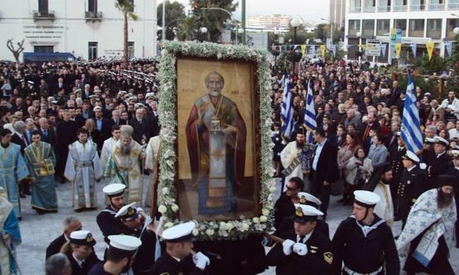 Περιφορά της εικόνας του Αγίου Νικολάου