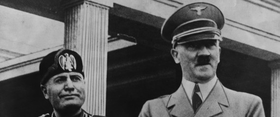 Portrait of Benito Mussolini and Adolf Hitler