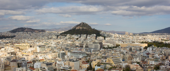 A panoramic view of Athens from the Acropolis