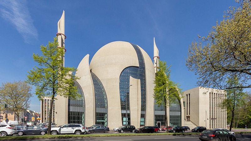 The Central Mosque in Cologne, Germany, pictured in April 2015, is run by DITIB. Photo courtesy of Creative Commons/Raimond Spekking