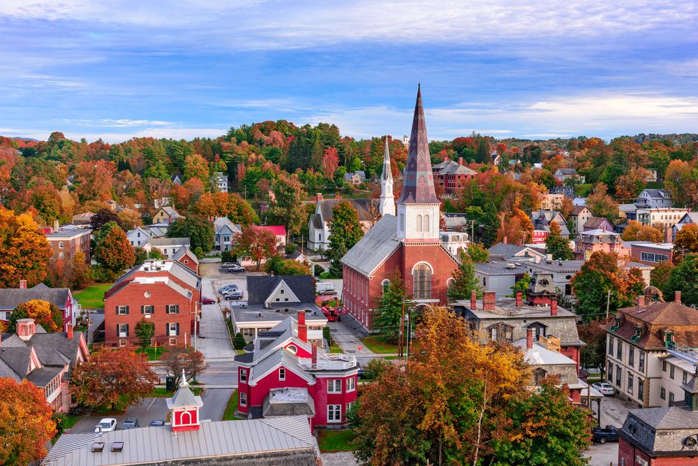 European Architecture in Montpelier, Vermont.