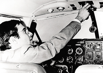 Jan 01, 1969 - Athens, GREECE - Young and adventurous heir to the Onassis fortune ALEXANDER ONASSIS died in an airplane crash at the age of 24. His tragic death devastated his father, Greek shipping tycoon Aristole Onassis. PICTURED: Piloting his private plane.  (Credit Image: © KEYSTONE Pictures USA)/ eyevine Contact eyevine for more information about using this image or for a higher resolution file: T: +44 (0) 20 8709 8709 E: info@eyevine.com