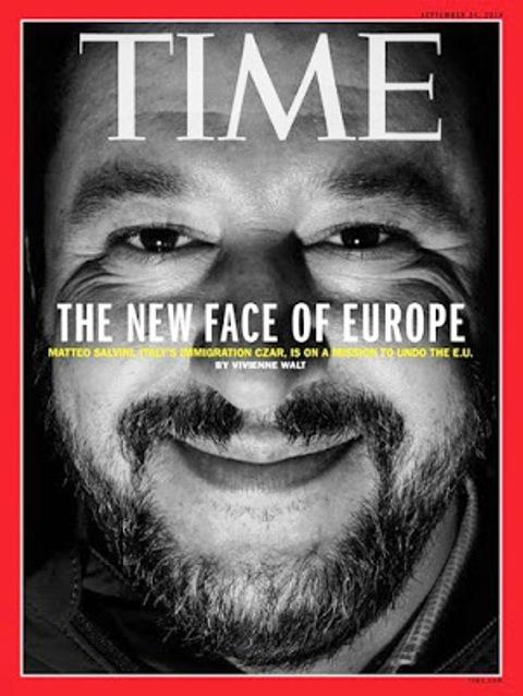 La copertina del Time dedicata a Matteo Salvini. 13 settembre 2018. ANSA/ TIME +++ NO SALES - EDITORIAL USE ONLY +++