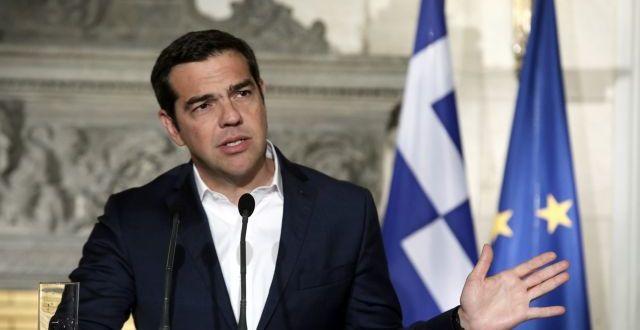 Ο πρωθυπουργός Αλέξης Τσίπρας και ο Γενικός Γραμματέας του Οργανισμού για την Οικονομική Συνεργασία και Ανάπτυξη (ΟΟΣΑ), Angel Gurría (δεν εικονίζεται) κάνουν κοινές δηλώσεις κατά την παρουσίαση της ετήσιας οικονομικής έκθεσης του Οργανισμού για την Ελλάδα (Economic Survey of Greece 2018) μετά τη συνάντησή τους στο Μέγαρο Μαξίμου, Αθήνα, Δευτέρα 30 Απριλίου 2018.  ΑΠΕ-ΜΠΕ/ΑΠΕ-ΜΠΕ/ΣΥΜΕΛΑ ΠΑΝΤΖΑΡΤΖΗ