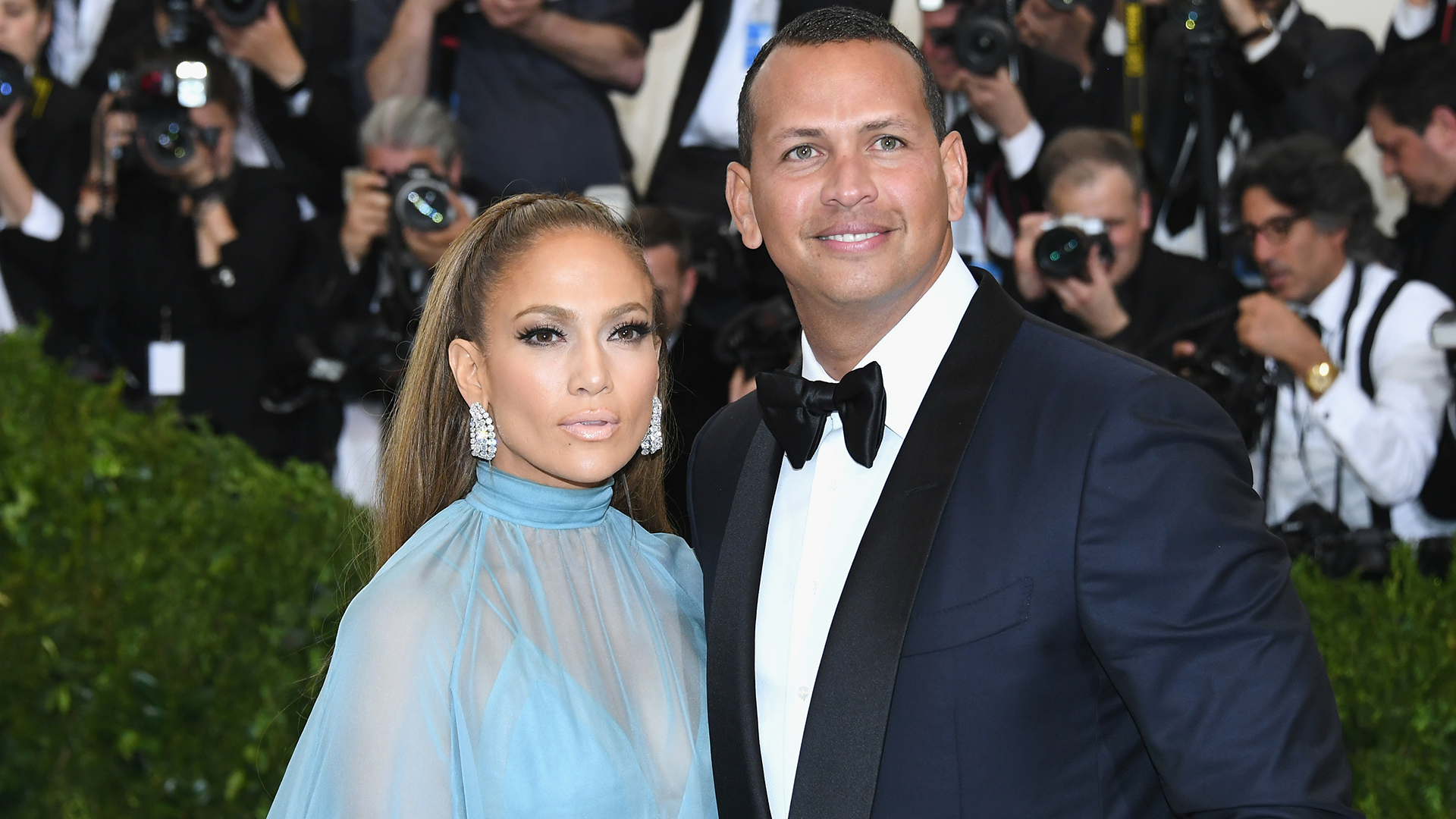 "NEW YORK, NY - MAY 01:  Jennifer Lopez and Alex Rodriguez attend the ""Rei Kawakubo/Comme des Garcons: Art Of The In-Between"" Costume Institute Gala at Metropolitan Museum of Art on May 1, 2017 in New York City.  (Photo by Dia Dipasupil/Getty Images For Entertainment Weekly)"