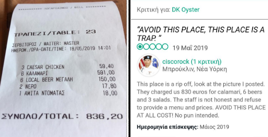 6c13ea6576b Ιλλιγγιώδες πρόστιμο 420.000 ευρώ στο «αμαρτωλό» εστιατόριο της ...