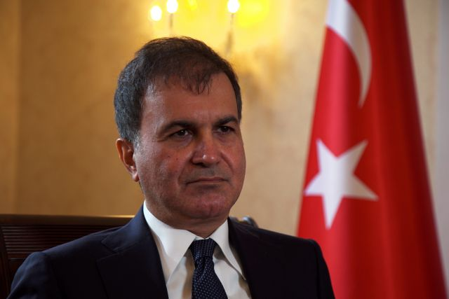 FILE PHOTO: Omar Celik, spokesman for Turkey's ruling AK Party and formerly its European Union affairs minister, speaks during an interview with Reuters in London, September, 14, 2017. REUTERS/Will Russell/File Photo