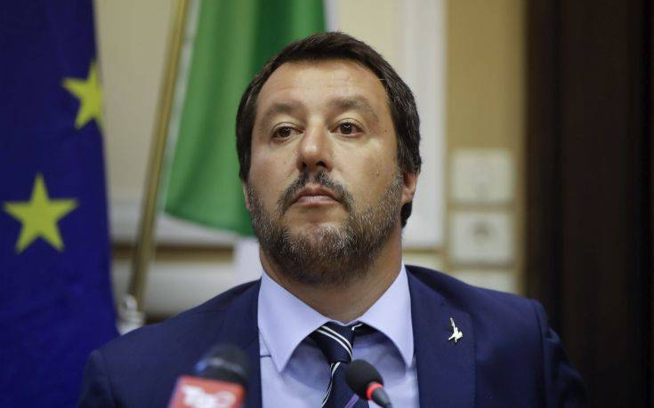 Italy's Interior Minister and Deputy-Premier Matteo Salvini attends a news conference after meeting Hungary's Prime Minister Viktor Orban, in Milan, Italy, Tuesday, Aug. 28, 2018. (AP Photo/Luca Bruno)