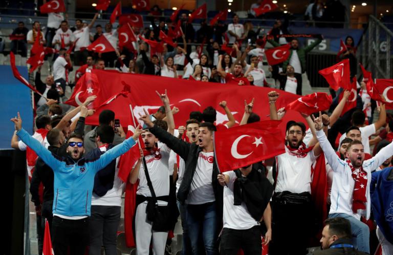 Soccer Football - Euro 2020 Qualifier - Group H - France v Turkey - Stade De France, Saint-Denis, France - October 14, 2019  Turkey fans before the match  REUTERS/Benoit Tessier