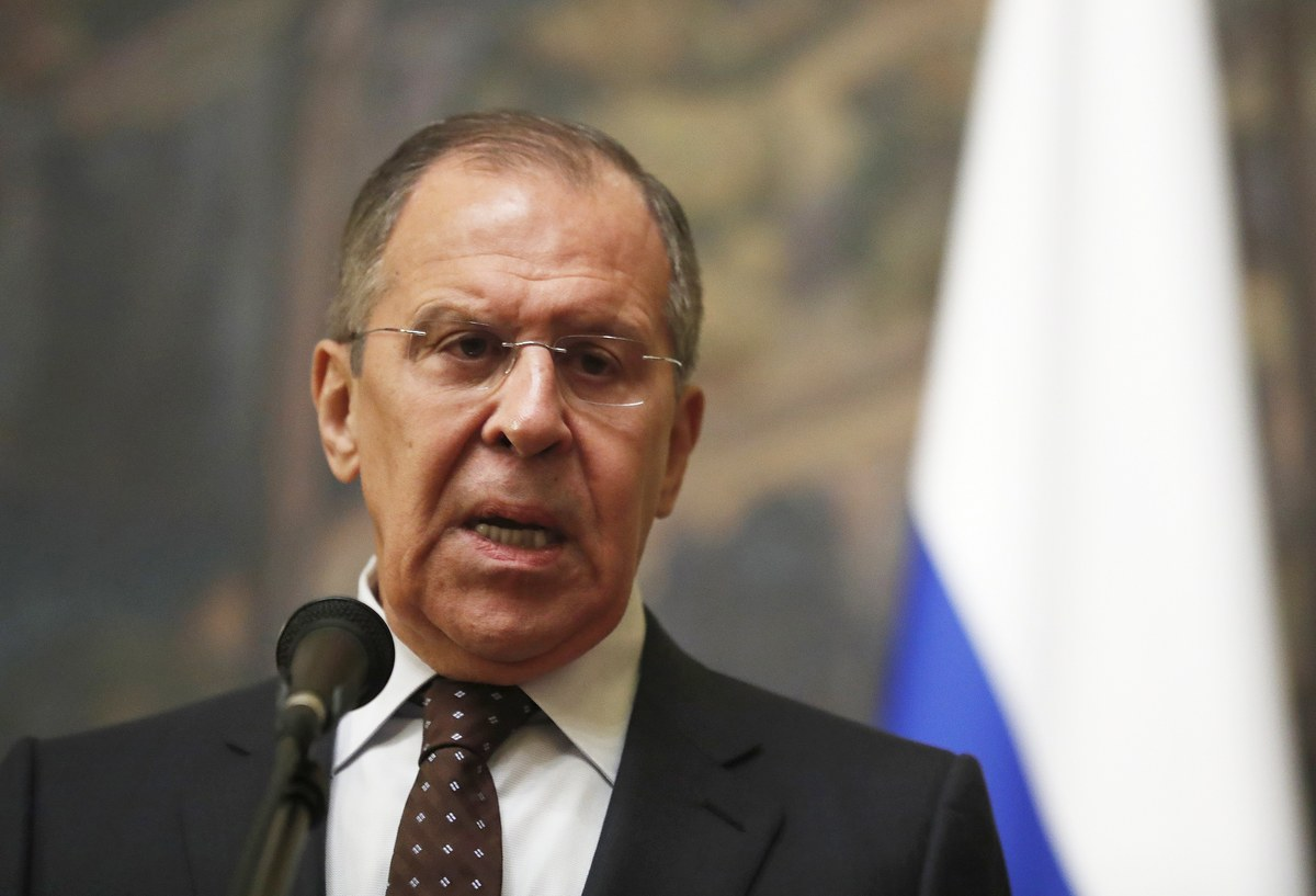 epa06600274 Russian Foreign Minister Sergei Lavrov makes a statement on development of British investigation into possible poisoning of former Russian spy Sergei Skripal, in Moscow, Russia, 13 March 2018. Lavrov said that Russian was not involved in the attack on former Russian spy Sergei Skripal and his daughter Yulia in Salisbury on 04 March 2018.  EPA/SERGEI CHIRIKOV
