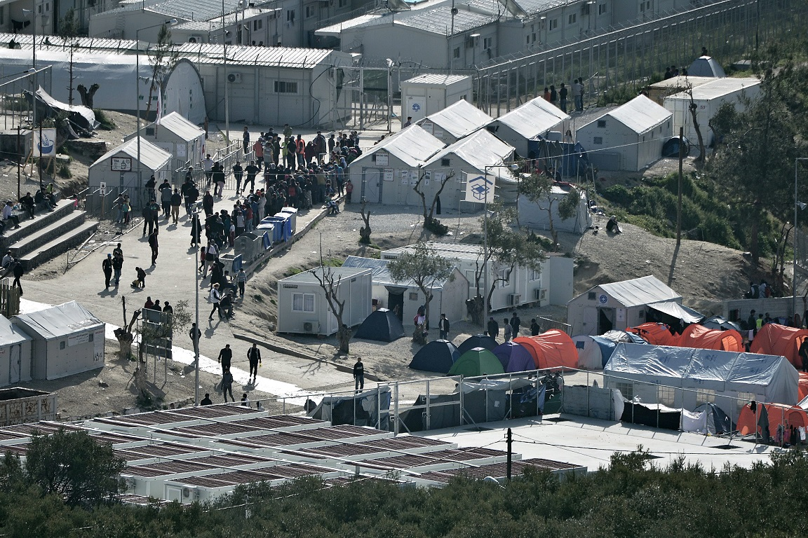 Morai refugee camp on Lesbos