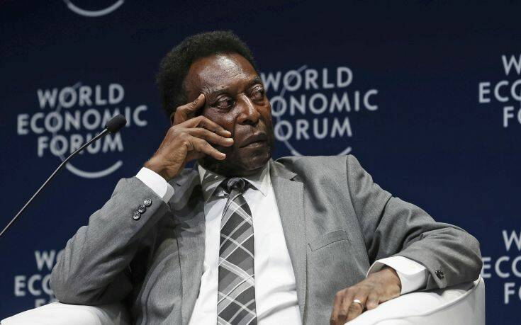 In this photo released by Brazil's presidential press office, former soccer player Edson Arantes do Nascimento, better known as Pele, attends the opening session of the World Economic Forum for Latin America in Sao Paulo, Brazil, Wednesday, March 14, 2018. Pele received the Global Citizen Award during the session. (Beto Barata/Brazil's presidential press office via AP)