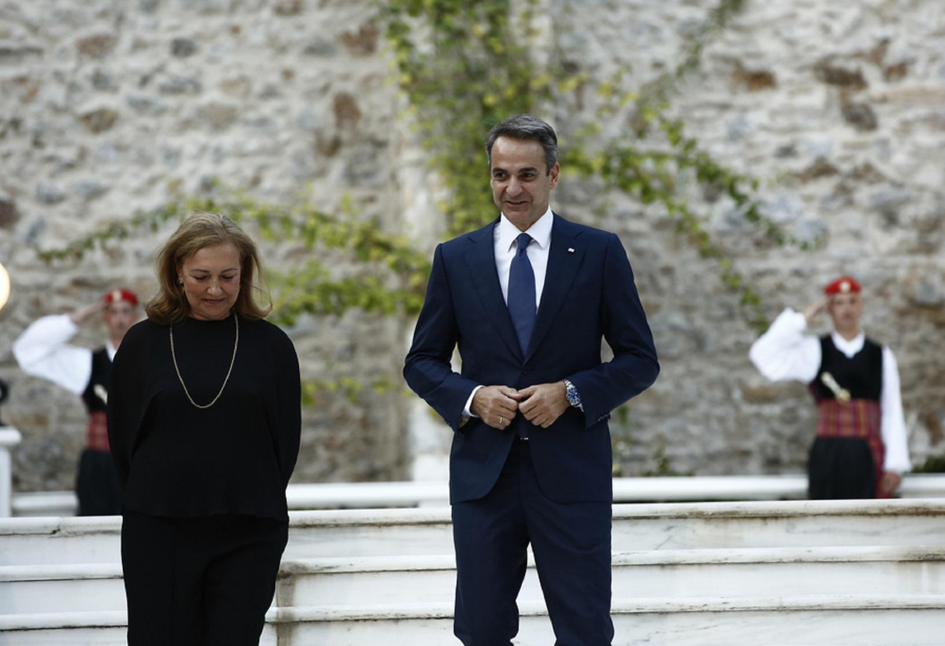 Ο πρωθυπουργός Κυριάκος Μητσοτάκης προσέρχεται στη δεξίωση για την 46η επέτειο αποκατάστασης της Δημοκρατίας στη χώρα μας, στο Προεδρικό Μέγαρο, Αθήνα Παρασκευή 24 Ιουλίου 2020. ΑΠΕ-ΜΠΕ/ΑΠΕ-ΜΠΕ/ΓΙΑΝΝΗΣ ΚΟΛΕΣΙΔΗΣ