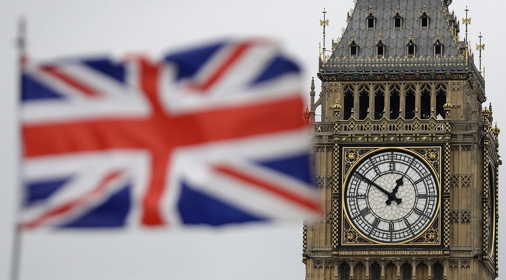 "British Union flag waves in front of the Elizabeth Tower at Houses of Parliament containing the bell know as ""Big Ben"" in central London, Wednesday, March 29, 2017. Britain will begin divorce proceedings from the European Union later on March 29, starting the clock on two years of intense political and economic negotiations that will fundamentally change both the nation and its European neighbors. (AP Photo/Matt Dunham)"