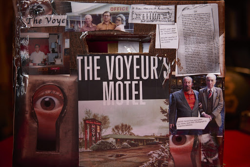 """A decorated box of notes for Gay Tales's upcoming book, """"The Voyeur's Motel"""", on Tuesday, June 21, 2016 in Manhattan, N.Y.  (James Keivom/New York Daily News)"""
