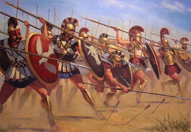 Greek Hoplite phalanx