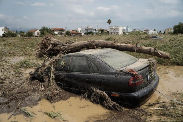Extensive floods in the central part of the island of Euboea, Greece following a heavy rain during the night on August 9, 2020. Five people have been found dead, including an 8-month-old baby. / Εκτεταμένες πλημμύρες στην Εύβοια έπειτα από έντονη βροχόπτωση κατά την διάρκεια της νύχτας, 9 Αυγούστου 2020. Πέντε άνθρωποι εχουν βρεθεί νεκροί, μεταξύ των οποίων ενα βρέφος 8 μηνών.