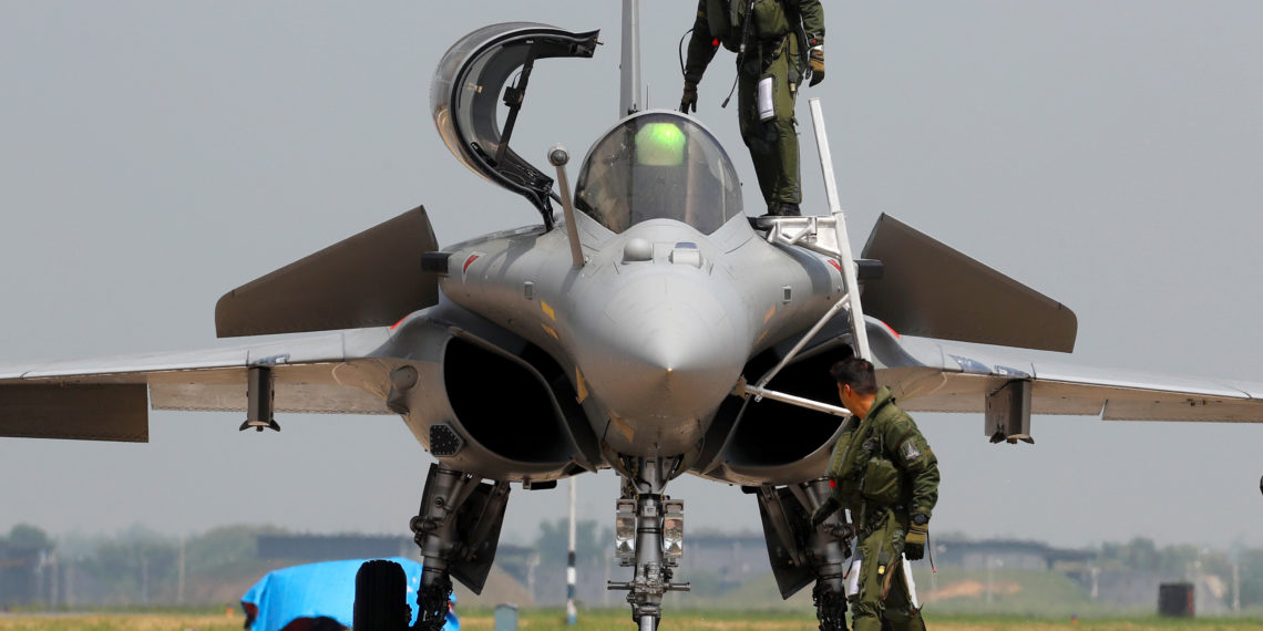 An Indian Air Force pilot gets out of a Rafale fighter jet during its induction ceremony at an air force station in Ambala, India, September 10, 2020. REUTERS/Adnan Abidi