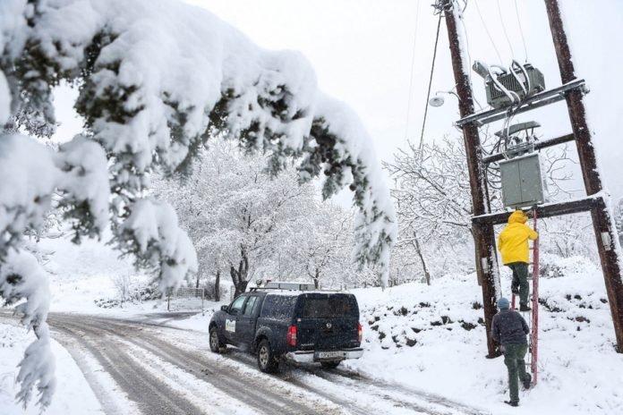 χιόνια-ΔΕΔΔΗΕ-εργασίες-Τρίπολη-696x464