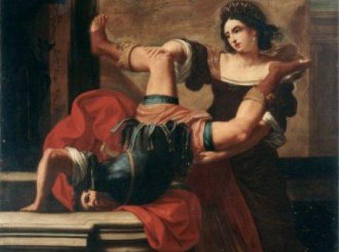 Sirani_Elisabetta_-_Timoclea_uccide_il_capitano_di_Alessandro_Magno_-_1659-Copy