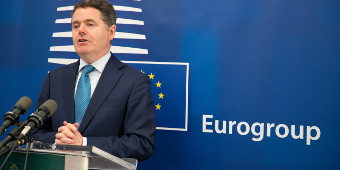 Monday 5th October 2020, Dublin, Ireland. Pictured is Paschal Donohoe, Minister of Finance for Ireland and President of the Eurogroup giving a press conference at his offices in Dublin. Photo:Barry Cronin/European Union