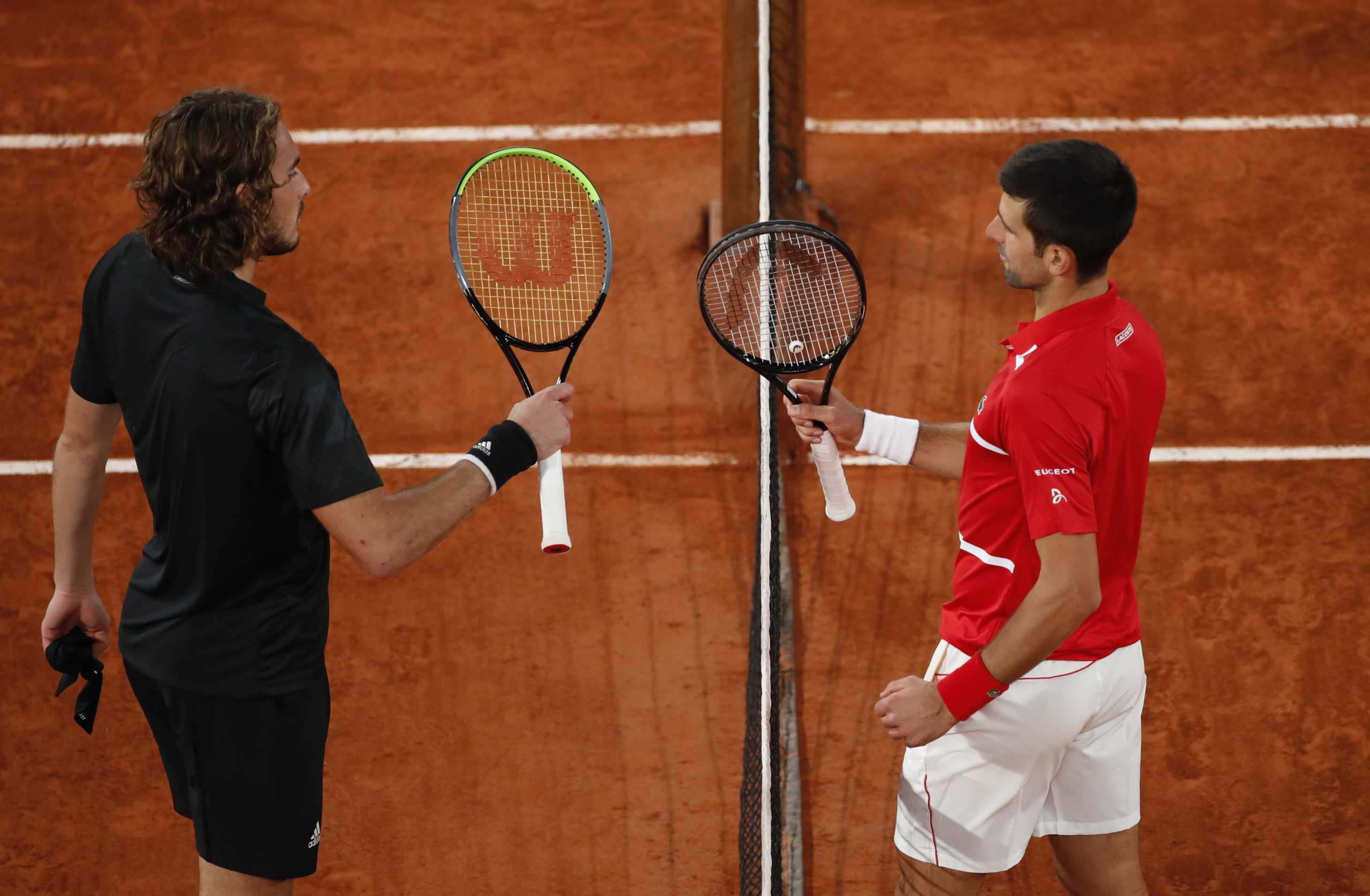 Tennis - French Open - Roland Garros, Paris, France - October 9, 2020 Serbia's Novak Djokovic  after winning his semi final match against Greece's Stefanos Tsitsipas REUTERS/Gonzalo Fuentes