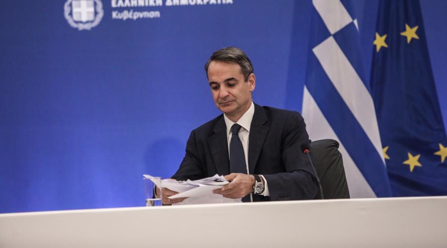 Συνέντευξη τύπου του Πρωθυπουργού Κυριάκου Μητσοτάκη, Πέμπτη 12 Αυγούστου 2021. (EUROKINISSI/ΓΙΑΝΝΗΣ ΠΑΝΑΓΟΠΟΥΛΟΣ)