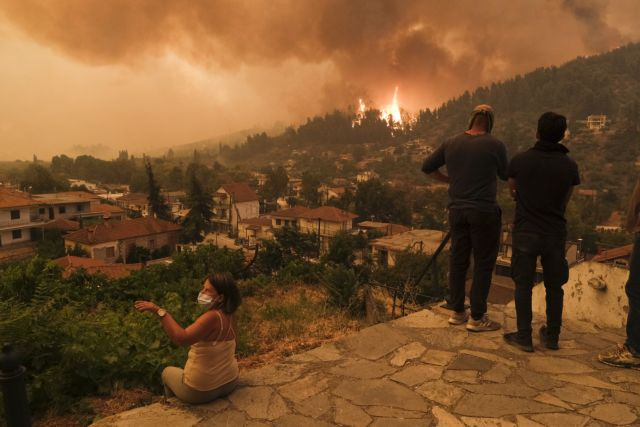 Sixth consecutive day of the wildfire at Evia Island, on August 8, 2021 /  Έκτη μέρα της φωτιάς στην Εύβοια, στις 8 Αυγούστου, 2021