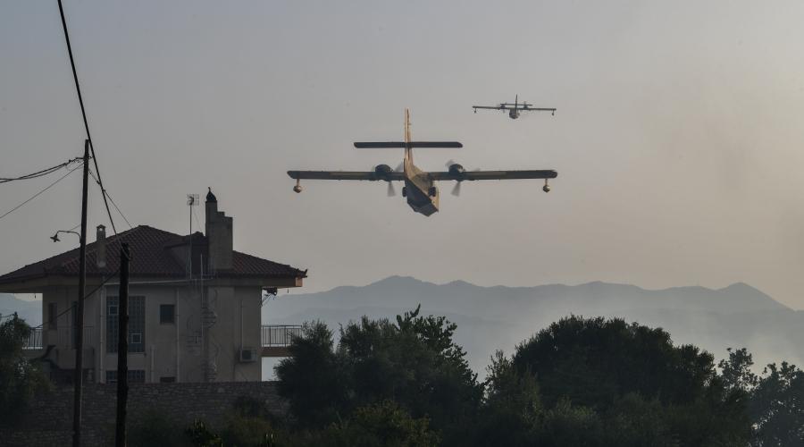Πυρκαγιά στην Γορτυνία, Τρίτη 10 Αυγούστου 2021. (EUROKINISSI/ILIALIVE.GR/ΓΙΑΝΝΗΣ ΣΠΥΡΟΥΝΗΣ)