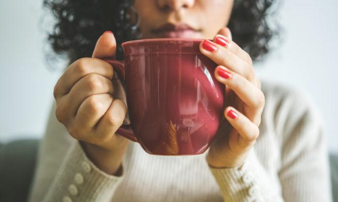 Women, Coffee, Anxiety, Stress, Serious